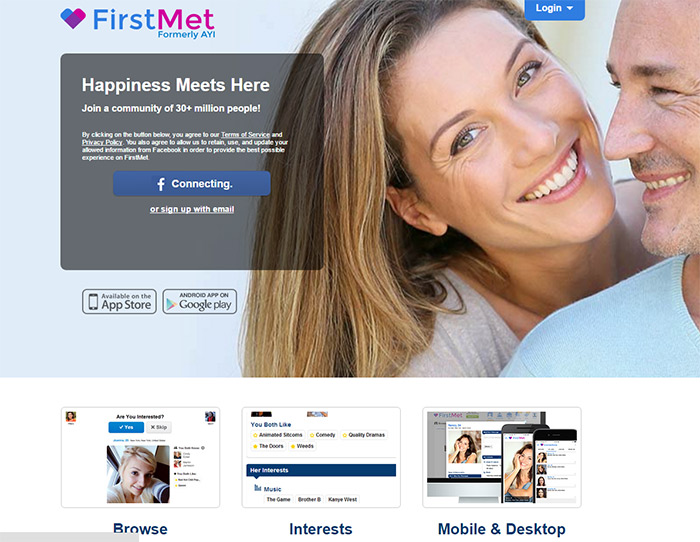 a review of the firstmet (formerly AYI) dating app