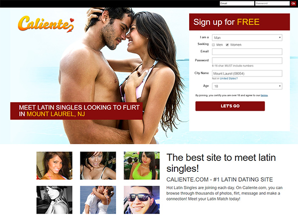 review of caliente adult dating site