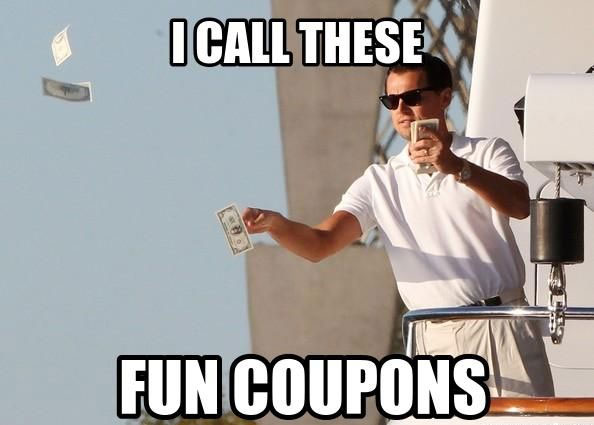 Wolf of Wall Street Fun Coupons