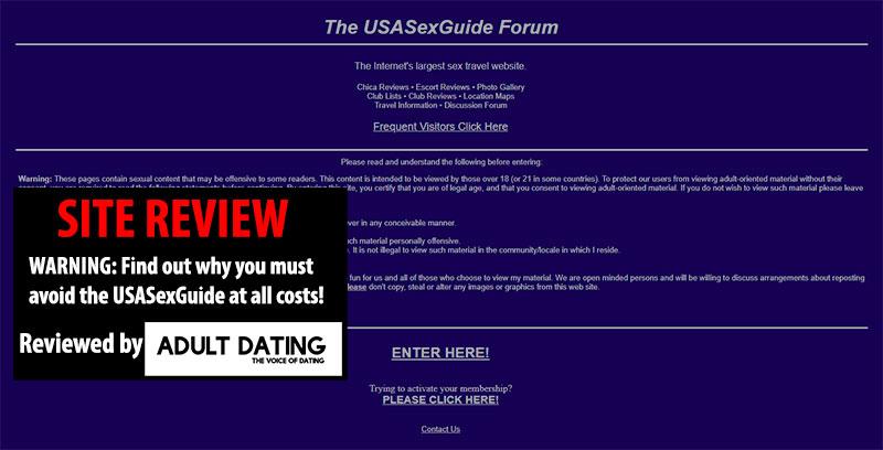 Screenshot of USASexGuide