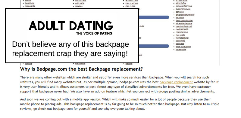 bedpage backpage replacement