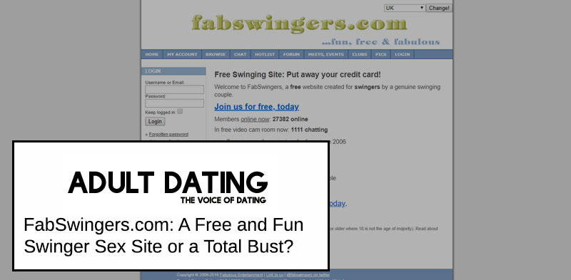 FabSwingers Site Homepage
