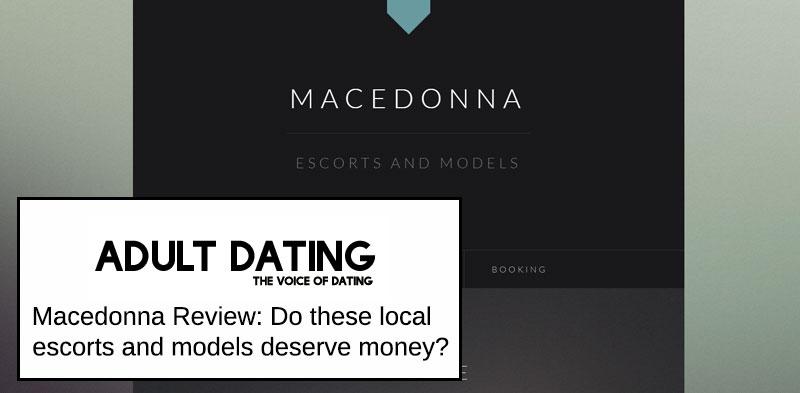 macedonna escort site homepage screenshot